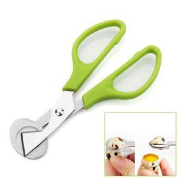 Egg crackEr online shopping - Creative Pigeon Quail Egg scissor Bird s egg Cutter Opener Kitchen Tool Clipper Cigar Cracker Blade