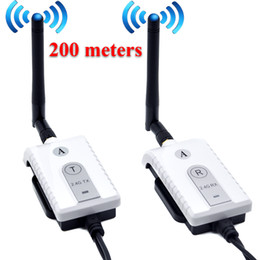 Camera Wireless Transmitter Australia - Car 2.4G Wireless AV Cable Transmitter and Receiver For Bus Car Video Monitor Truck Reversing Rear View Backup Camera 200m Range