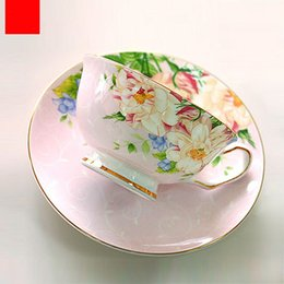 c14230e297f 220ML, fine bone china vintage tea cup set, craft tea cup with saucer,  porcelain coffee cup, cafeteira porcelain cup and saucer
