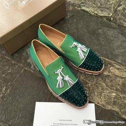 Христиане зеленый змеиная кожа синий заклепки разноцветные блеск CL CLss красный обувь заклепки Дуг обувь кожаные кроссовки