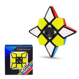 Discount magic cube gyro - First-order fingertips decompression gyro spiral fidget spinner finger Revolving Magic Cube Puzzle Smooth Toy magic deco