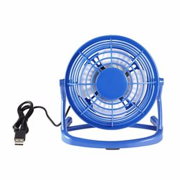 blade fans UK - Portable DC 5V USB 4 Blades Cooler Cooling Fan USB Mini Fans Operation Super Mute Silent For PC Laptop Notebook Drop Shipping