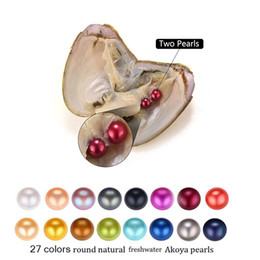 $enCountryForm.capitalKeyWord Australia - 2018 new Akoya High quality cheap love Freshwater shell pearl oyster 6-7mm Twins pearl oyster with vacuum packaging Trend Gift Surprise