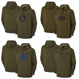 66ad71672af Giants Hoodie UK - Oakland Raiders New York Jets New York Giants Orleans  Saints Salute to
