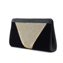 party handbags for ladies UK - High Quality Beading Clutch Women Handbags gold velour Clutches for Party Ladies aluminum Luxury black evening bags H061