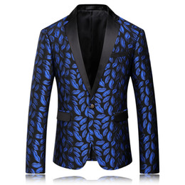 korean man fashion suit NZ - Fashion Personality Printing Korean Leisure Time Man's Suit Autumn Clothing New Pattern Man Single Row Buckle Smal