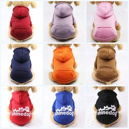 $enCountryForm.capitalKeyWord NZ - Outdoor Sports Dogs Sweater Keep Warm Winter Pet Cartoon Hoodie Dog Apparel Classic Portable Clothing With Multi Color 5 5gg jj