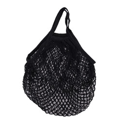 fold hand bag UK - 9Colors Reusable String Shopping Grocery Bag Shopper Tote Mesh Net Woven Cotton Bag Hand Tote