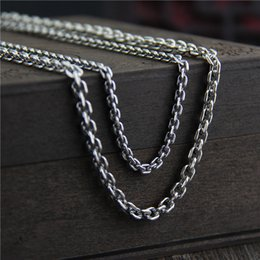$enCountryForm.capitalKeyWord NZ - vintage jewelry 925 sterling silver neckace fashion 3mm 45-80cm necklace long sweater chain bare chain for men women silver body necklace