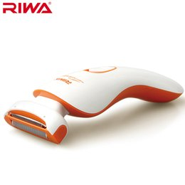 Riwa Hair Australia - Woman Female Lady shaver razor Hair Removal comfortable trim Bikini underarm body Washable blade battery operation Riwa 770B