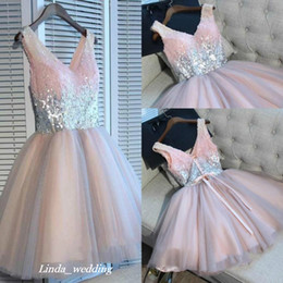 ab78d51e0775f Black Sequin Cocktail Dress Plus Sizes Australia - 2019 Cheap Short Pink  Homecoming Dress Summer A
