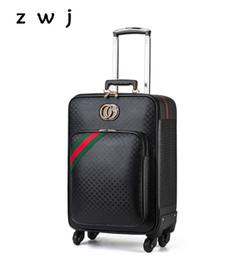 Vendita calda PU bagaglio 16/20/24 pollici Classic Rolling Luggage Spinner marca Travel Suitcase