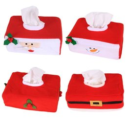 $enCountryForm.capitalKeyWord NZ - Christmas Santa Claus Cloth Tissue Box Covers Holder Xmas Decoration Ornaments Tissue Holder