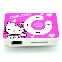 $enCountryForm.capitalKeyWord NZ - Free Shipping Lowest Price Cartoon Hello Kitty MP3 Music Mini Clip Player With TF SD Card Slot Support 8GB Memory