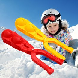 $enCountryForm.capitalKeyWord Australia - 1pcs Winter Double Snow Ball Toys Maker Sand Mold Tool Kids Lightweight Compact Scoop Snowball Fight Outdoor Sports Game Toys