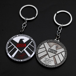 car key rings toyota NZ - The Avengers Metal Key Rings Thor Hammer Arm Car Keychains Caribbean Spiderman X MAN Bag Hanging Toys Gift