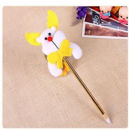 santa pens 2019 - Cute Cartoon Snowman Christmas Ballpoint Pen Colorful Santa Claus Pen Gift Office School Writing Supplies With Opp Bag d
