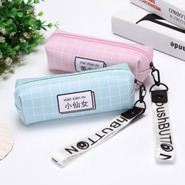 $enCountryForm.capitalKeyWord NZ - Portable simple pencil case small fresh college students cute men's and women's new large-capacity school stationery pencil case