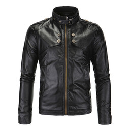$enCountryForm.capitalKeyWord UK - Herobiker Motorcycle Jackets Men Vintage  PU Leather Jacket Racing Biker Punk Classical Casual Bomber Windproof Moto Jacket