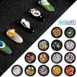 Wholesale MEET ACROSS Mixed Colorful Rhinestones Crystal Nail Art Glitter Stone Charming D Design Jewelry Gem Manicure DIY Decoration