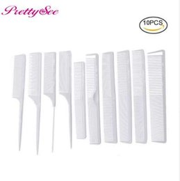 saw types NZ - Pretty See Professional 10pcs White Hair Combs Kit Salon Barber Comb Brushes Anti-static Hairbrush Hair Styling Tool Set