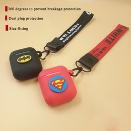 Super heroeS iphone caSe online shopping - Marvel Super Hero Non slip Silicone Case For Apple AirPods Case Skin Cover for AirPods True Wireless Earphone box accessories