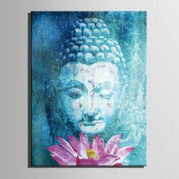 HD печать религия Будда холст wall art живопись холст wall art картина для гостиной Декор живопись home decor art /PT1332 Y18102209