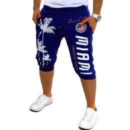 Design compression shorts online shopping - Shorts Mens Tights Compression Palm Print Design Bermuda Short Men Homme Shorts xl Ciqipp