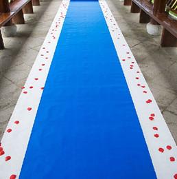 $enCountryForm.capitalKeyWord NZ - 20 Meters roll Royal blue Wedding Theme Nonwoven Fabric Carpet Aisle Runner For Wedding Party Decoration Supplies