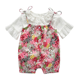 Cute baby white t shirt online shopping - Baby girls outfits newborn baby cute clothing set lace t shirt rompers suit toddler infant jumpsuit