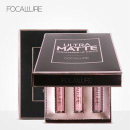 matt gloss mix lipstick 2019 - FOCALLURE Brand 3 Colors Kit Matt Lip Gloss Paint Liquid Lipstick Lipgloss Waterproof Long Lasting Lip Gloss Lip Kit FA2