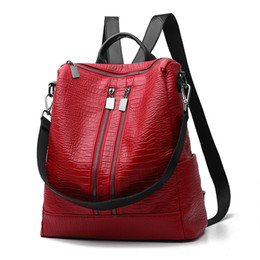 $enCountryForm.capitalKeyWord UK - 2017 New Arrivals Ladies Bags Concise Leisure Fashion Occident Style Backpacks Solid Color Wine Red Black Blue Grey Female Bag