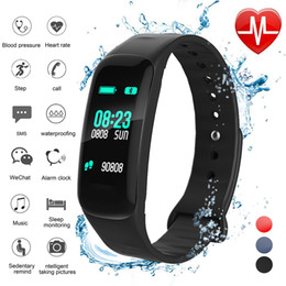 Heart Rate Glasses Australia - ZLIMSN Color Screen Smart Bracelet Color Screen Blood Pressure Fitness Tracker Heart Rate Monitor Band Sport for Android IOS