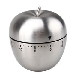 Wholesale Stainless Steel Cooking Tool Mechanical Egg Kitchen Cooking Timer Apple Alarm Clock Minutes Magnetic Timer Reminder Newly
