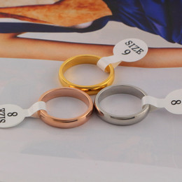 Steel Gold 18k NZ - Titanium steel Hot Fashiion Eleastic Brand luxury wedding Smooth rings for woman jewelry Wide versionThe Latest 18k gold Love Ring