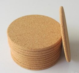 Classic Round NZ - 500pcs Classic Round Plain Cork Coasters Heat-insulated Cup Mats 10cm Diameter for Wedding Party Gift
