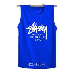 65a3a58df12 Plus fertilizer XL 4XL with NEW YORK LOS ANGELES TOKYO printed cotton  sports vest tops