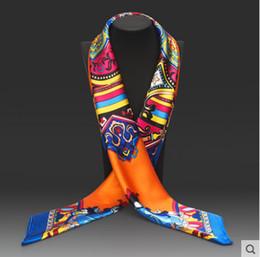 $enCountryForm.capitalKeyWord Australia - Hot Sale Satin Square Silk Scarf Printed For Ladies New Arrival Women Brand Polyester Scarves 90*90cm Euro Stylish Fashion Silk scarves Muff