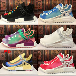 941ed8cdd Human Shoes Canada - 2018 High quality Human Race NERD kids Running Shoes  white black purple