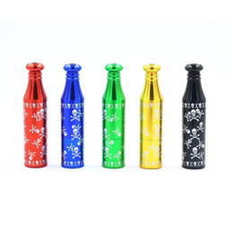 Chinese  Newest Skull Metal Mini Pipe Aluminium Alloy Colorful High Quality Herb Smoking Pipe Tube Unique Design Many Styles Easy To Carry DHL Free manufacturers