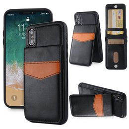 for magnets Australia - For iPhone X S9 8Plus Wallet Case Luxury Retro Leather TPU Shockproof Cell Phone Back Cover with Credit Card Slots Photo Frame Magnet
