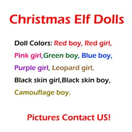 Kids christmas booKs online shopping - 10 Style Christmas Elf Doll Plush toys Elves Xmas dolls and Books Clothes on the shelf For Kids Christmas Gift Decorations