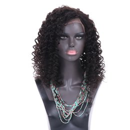 $enCountryForm.capitalKeyWord UK - Human Hair Wigs Lace Front Brazilian Malaysian Indian Curly Hair Full Lace Wig Remy Virgin Hair Lace Front Wigs For Black Women