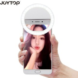 Discount selfie flash night light mobile JOYTOP 36 LED Portable Selfie Flash Led Camera Clip-on Mobile phone Selfie ring light video light Night Enhancing Fill L