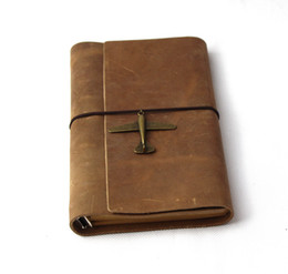 Chinese  new Genuine leather vintage a6 loose-leaf notebook cowhide commercial notepad diary manufacturers