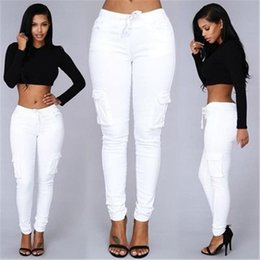 $enCountryForm.capitalKeyWord Canada - Women Fashion Style Pants Ladies Green Red Sexy Party Club Pockets Pants Trousers New Arrivals Slim White Stretch Drawstring Trousers