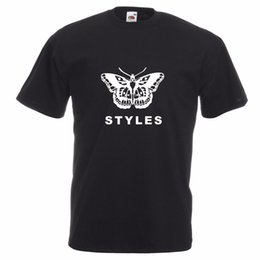 Chinese  Harry Styles Butterfly T-shirt Vocals Guitar One Direction Pop manufacturers