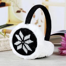 $enCountryForm.capitalKeyWord NZ - Cute Plush fluffy Headband Ear muffs girls women earmuffs Ear Warmer cover in Winter deer snowflake design knitted protector