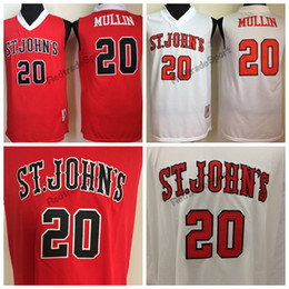 0cdc70e4fdb Vintage St. Johns University Chris Mullin College Basketball Jerseys Cheap  Red White Chris Mullin #20 Stitched Shirts S-XXL