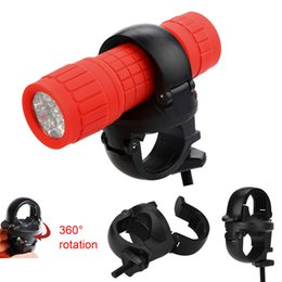 Wholesale 360Rotation MTB Bike LED Front Flash Light Torch Lamp Mount Clip Holder Bracket With antiskid rubber gasket durable